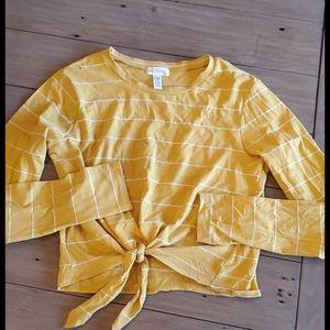Medium Yellow Long Sleeve Crop